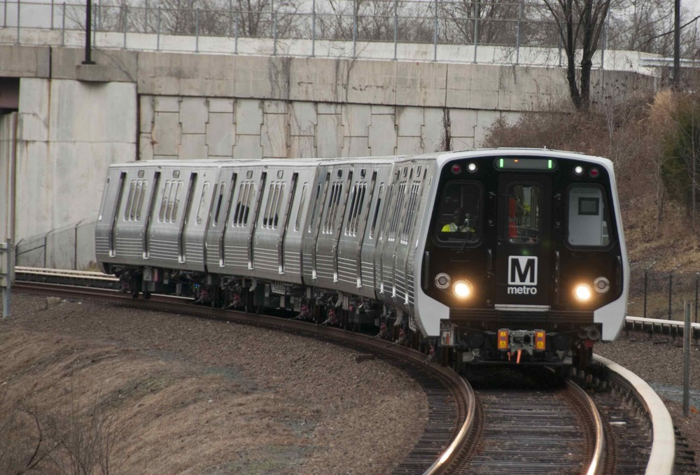 A rake of new 7000 series WMATA rail cars. WMATA photo