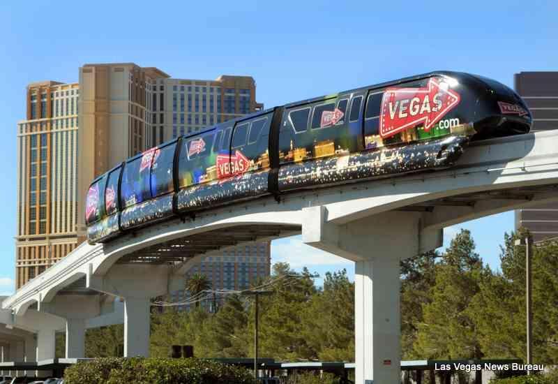 Las Vegas Monorail. Photo by Las Vegas News Bureau