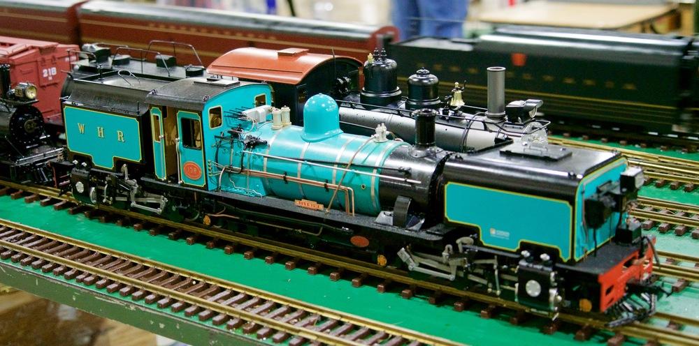 An Accucraft Live Steam Welsh Highland Railway Garratt Locomotive
