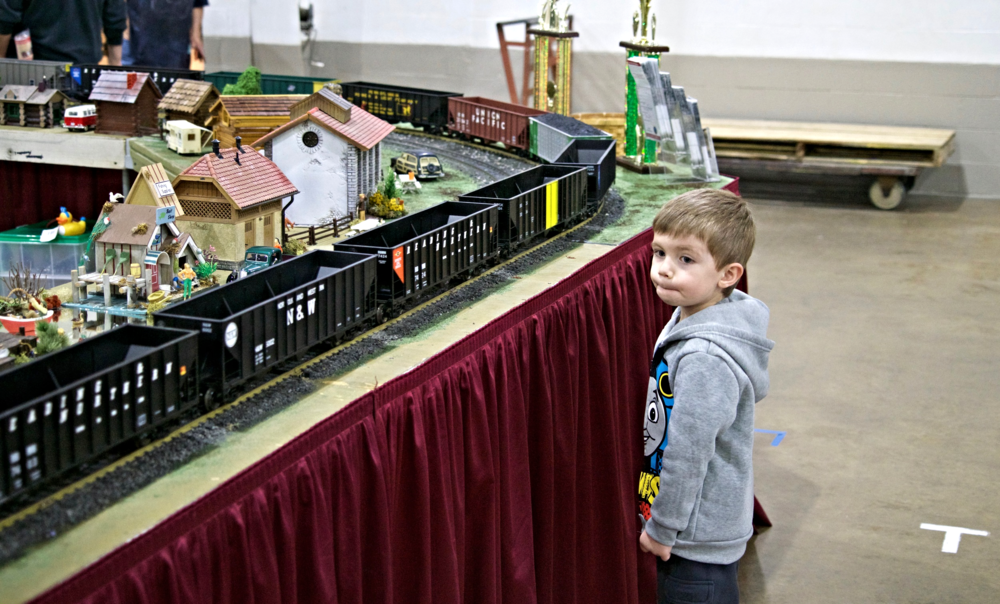 A young admirer of long unit train coal drags.