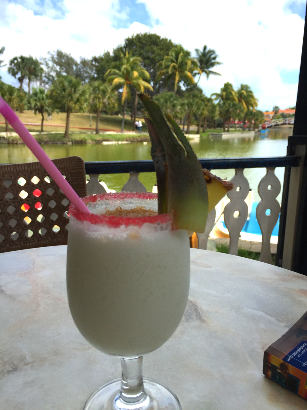The best Pina Colada in Cuba was offered to us in Veradero at the Parque Josone.