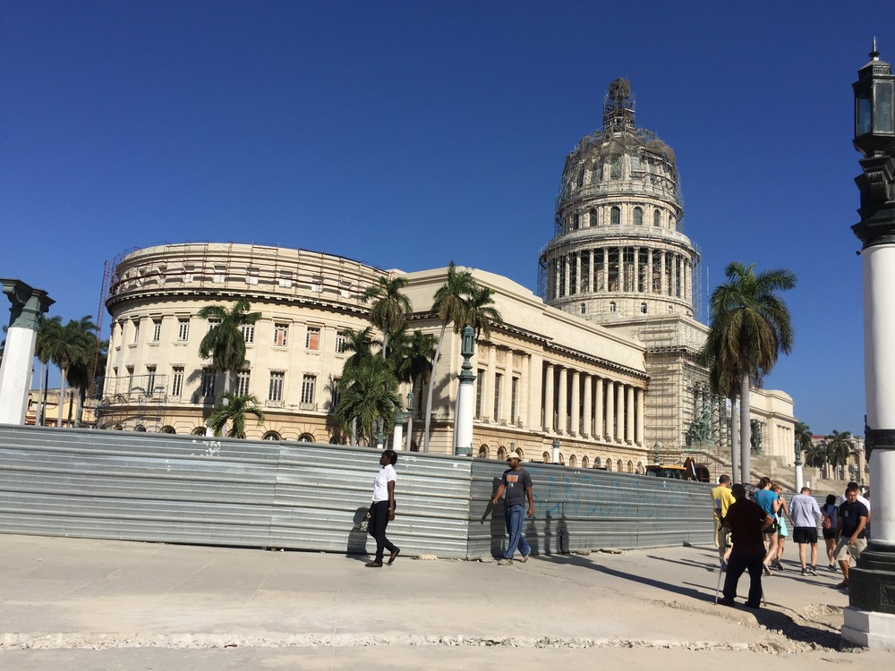 Cuba's Capitolio in Havana -- scaffolding and all!