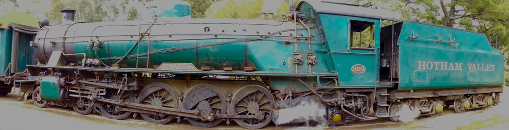 A bad panoramic photo of the steam engine above.                                                  Photo by Ralf Meier