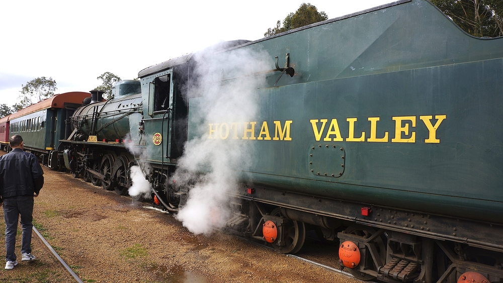 A Class W 4-8-2 steam locomotive on the aforementioned Hotham Valley Railway.          Photo by Ralf Meier