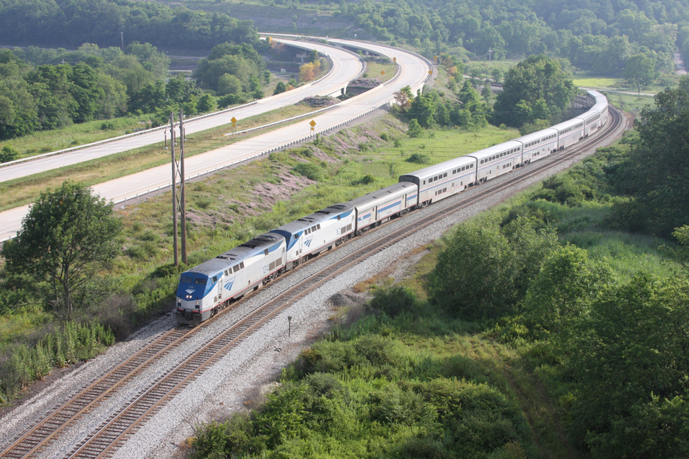 """Amtrak's """"Capitol Limited""""                  Photo by Jason Lowe"""