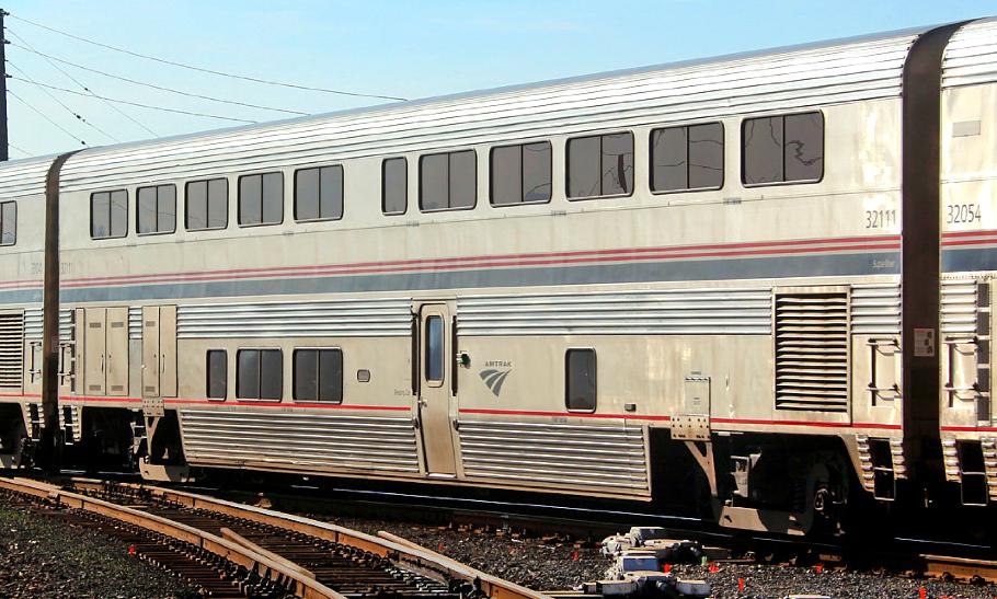 An Amtrak Superliner sleeping car.           Photo by Marty Bernard