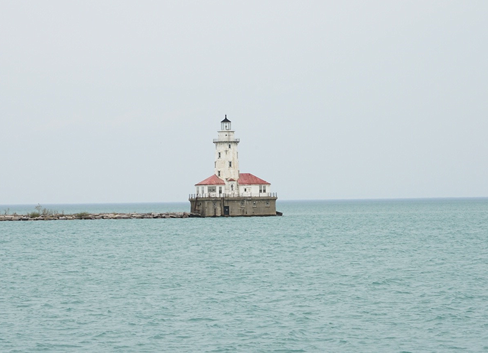 Lighthouse at the end of the Navy Pier