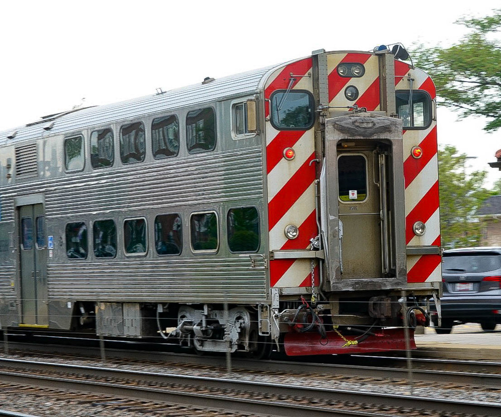 """The cab control car on the """"Express"""" in the photo above."""