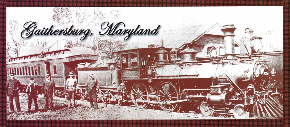 Metropolitan coal burning passenger / freight locomotive in front of Gaithersburg station circa 1890.  (Photo courtesy:  Smithsonian Institution )