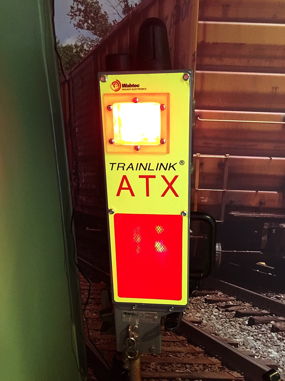 An FRED (end of train device) in the caboose that you can turn on (as shown here).  More detail about how end-of-train devices work can be found  here .