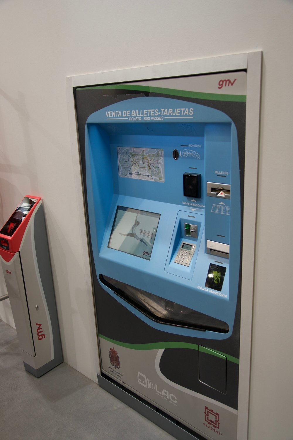 "Spain's idea of the three ""proofs"" in outdoor ticket machines: weather proof, vandalism proof, fool proof!"