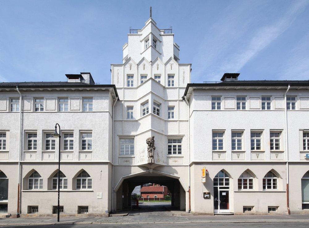 The former Kresge warehouse in Sonneberg.