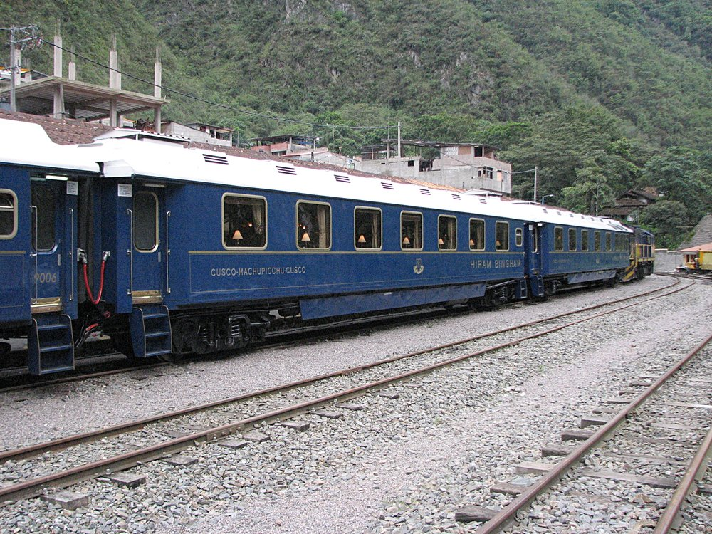 "One of the ""Hiram Bingham"" train coaches. Photo by Ralf Meier"