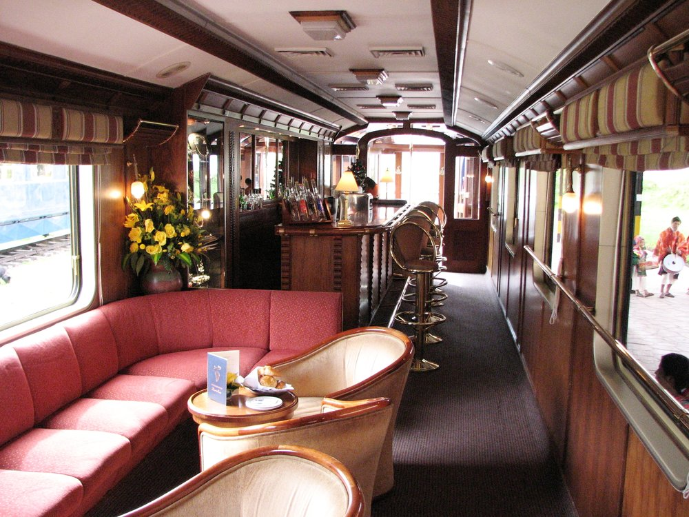 "The ""Bar Car"" on the ""Hiram Bingham"" train. Photo by Ralf Meier"