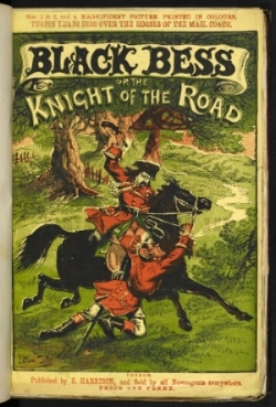 Front cover of Black Bess; or the Knight of the Road (1868-9). (The British Library I Creative Commons)