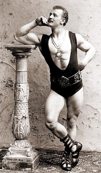 """Eugen Sandow"" Photograph (1894), by Benjamin Falk 