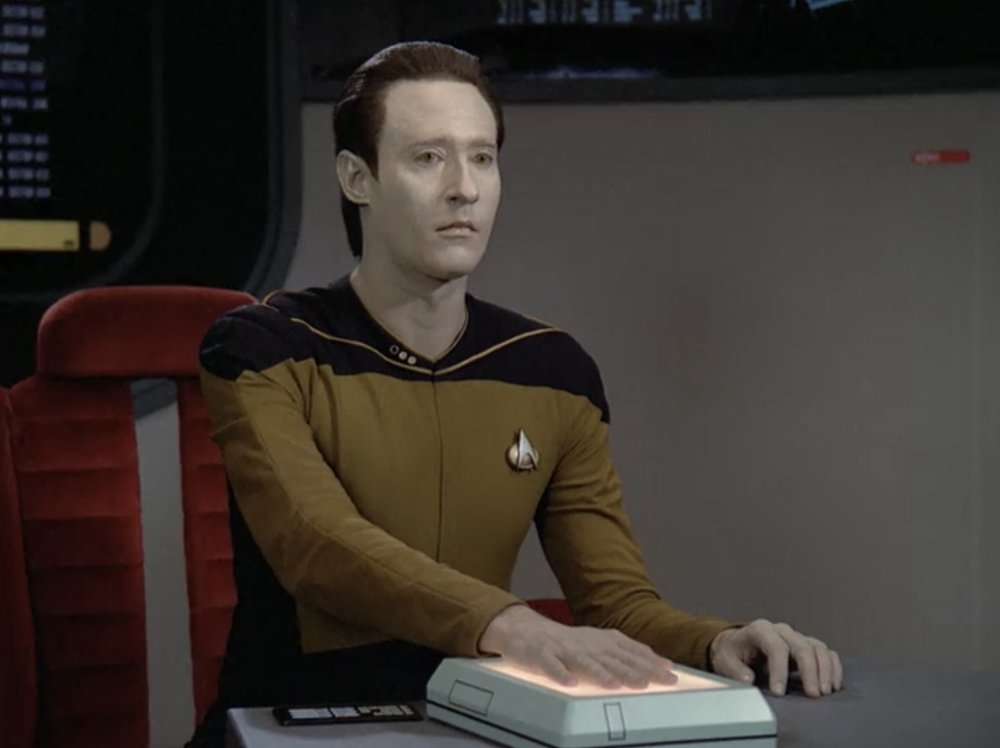 Brent Spiner as Data in Star Trek: The Next Generation