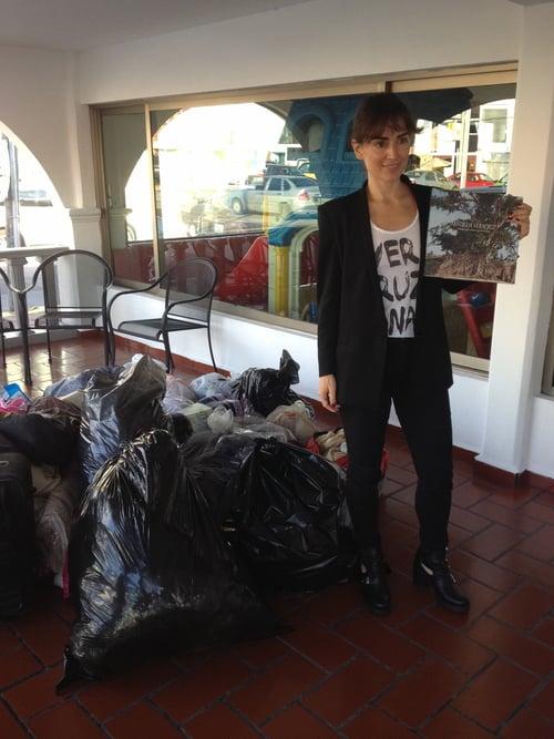 Noviembre 2013. Primer colecta de ropa invernal