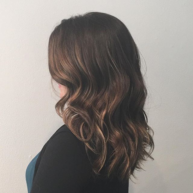 Thick haired ladies are in the 🏠. One down one more to go!  #gaminestudio #portlandbalayage