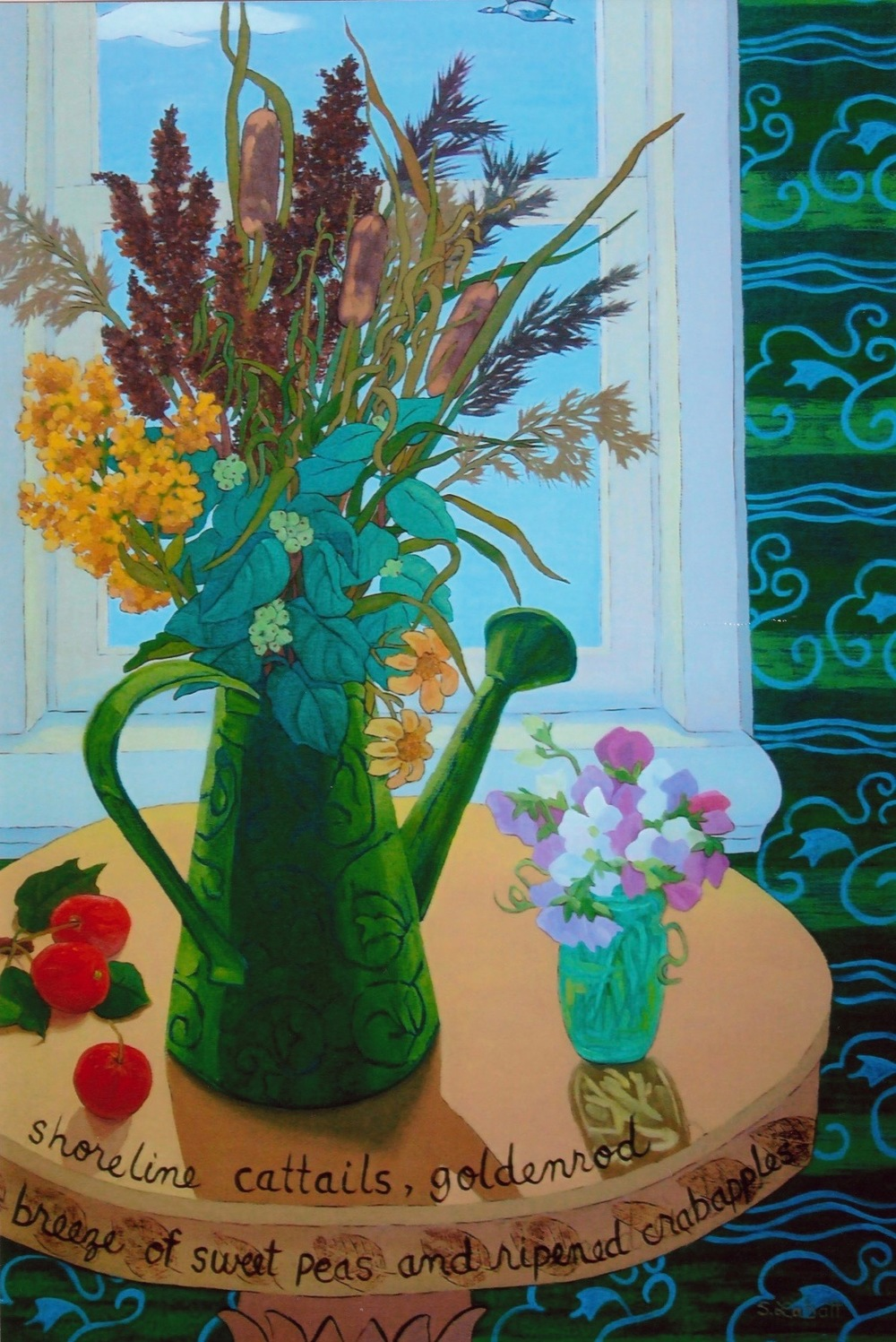 "Scent of Summer; Acrylic on canvas, 36"" x 24"", 2009"