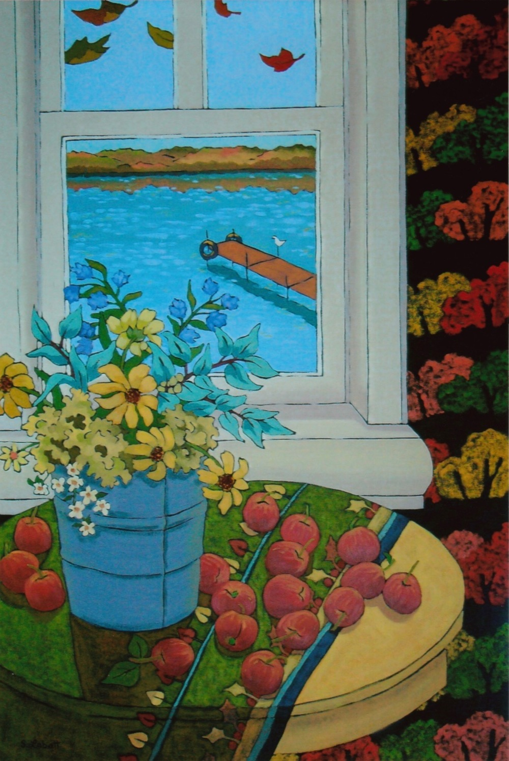"Season of Splendor; Acrylic on canvas, 36"" x 24"", 2009"