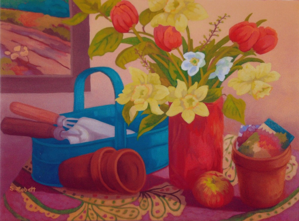 "Planting Time; Acrylic on canvas, 16"" x 20"", 2008"