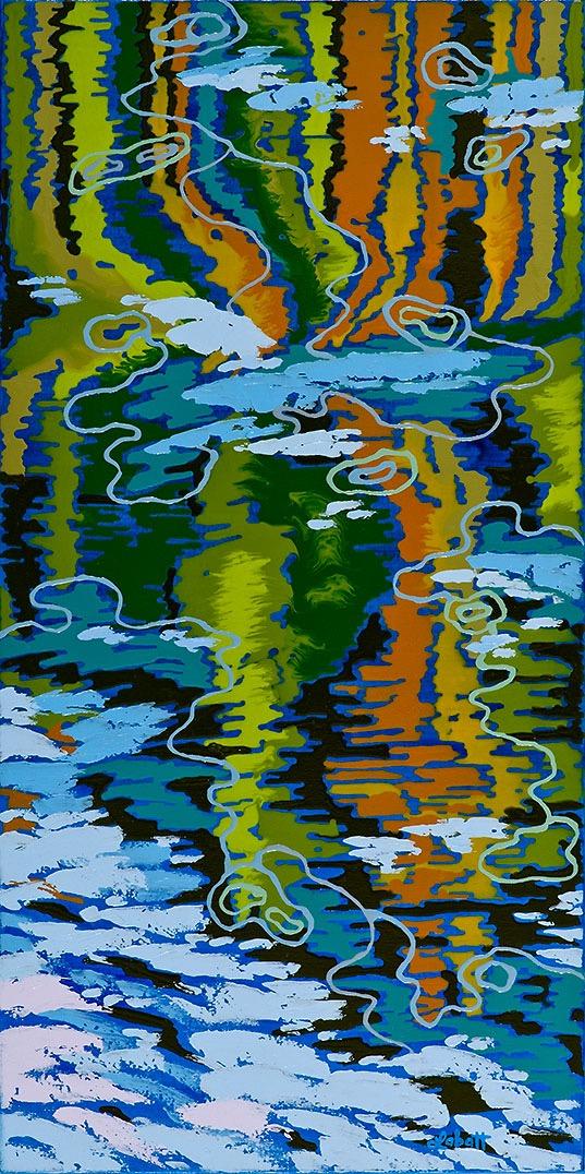 Shoreline Reeds Reflection