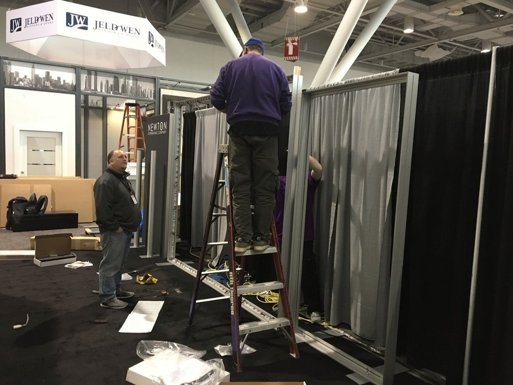 Exhibit Install & Dismantle  -  Regardless of the event location, the in-house ExhibitSense technicians can provide install and dismantle services, ensuring the best possibleservice and rates.When needed, on-site supervision of installand dismantle services by our ExhibitSense professionals is available.