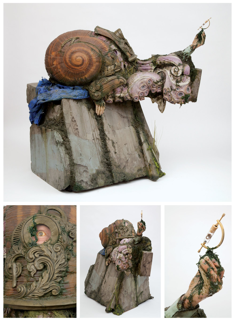 Christopher Brand.  The Vessel . 2010 - carving foam, fiberglass, urethane plastic, silicone, acrylic & polymer clay, 3.5' x 3.5'