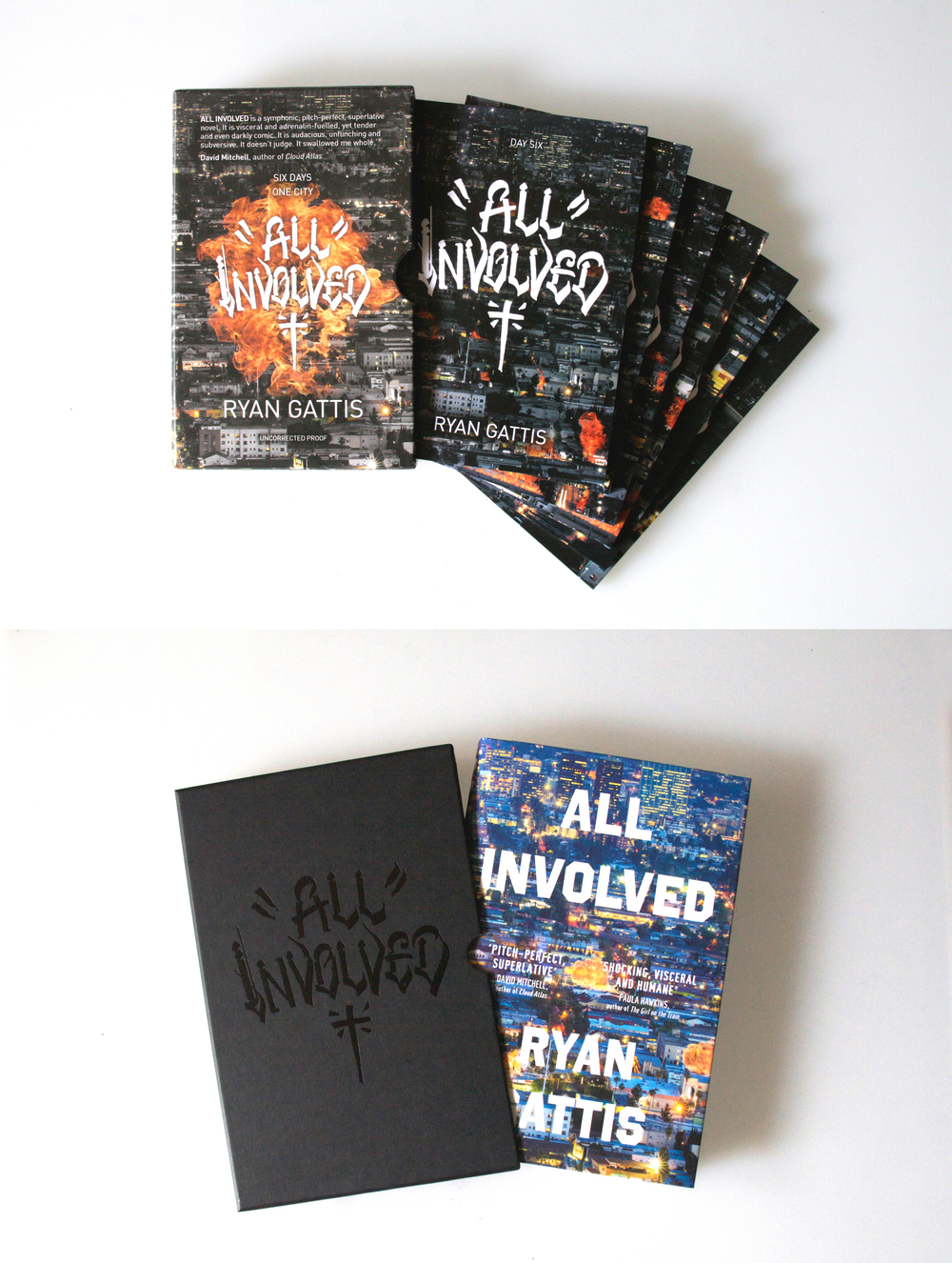 All Involved  UK Special Edition Proof & Special Edition Hardcover with Slipcase (Picador & Goldsboro Books) with font by Chaz Bojorquez, 2015.