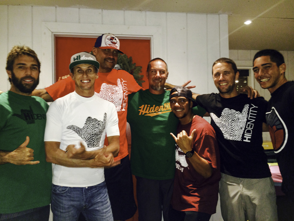 (Left to right) Joey Vieira, Jeff Hubbard, Big Todd, Aka Lyman, Dayton Wago, Spencer Skipper, Kapena Kaopuiki.