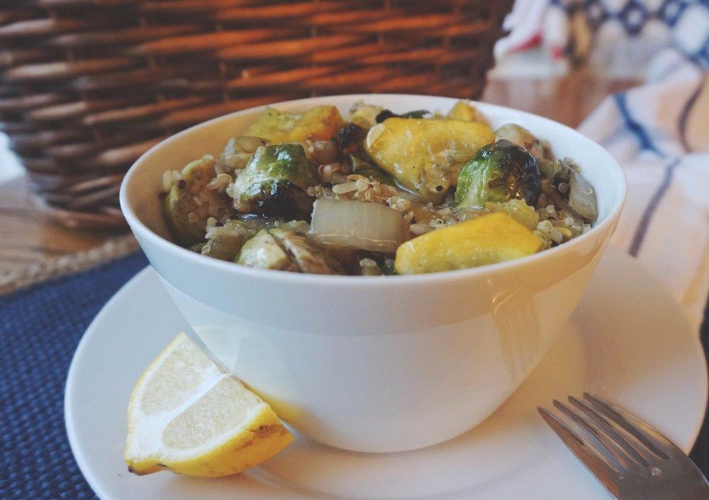 Grilled Veggies, Quinoa & Rice