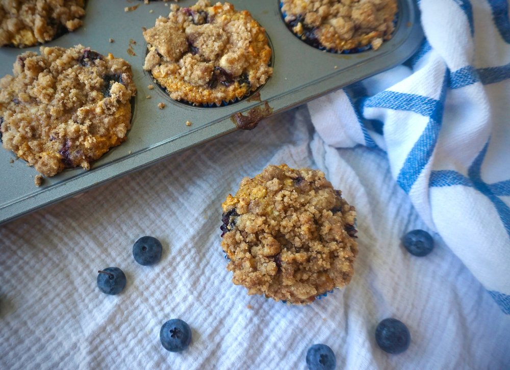 Blueberry & Oat Muffins