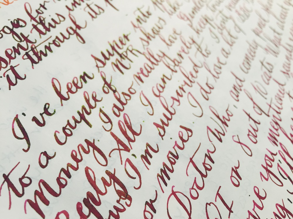 Written with a Pilot Custom Heritage 912 with an FA nib.