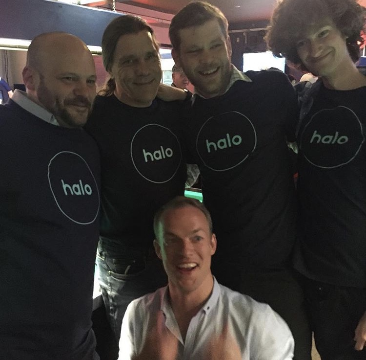 The Halo Car team celebrating their brand launch.