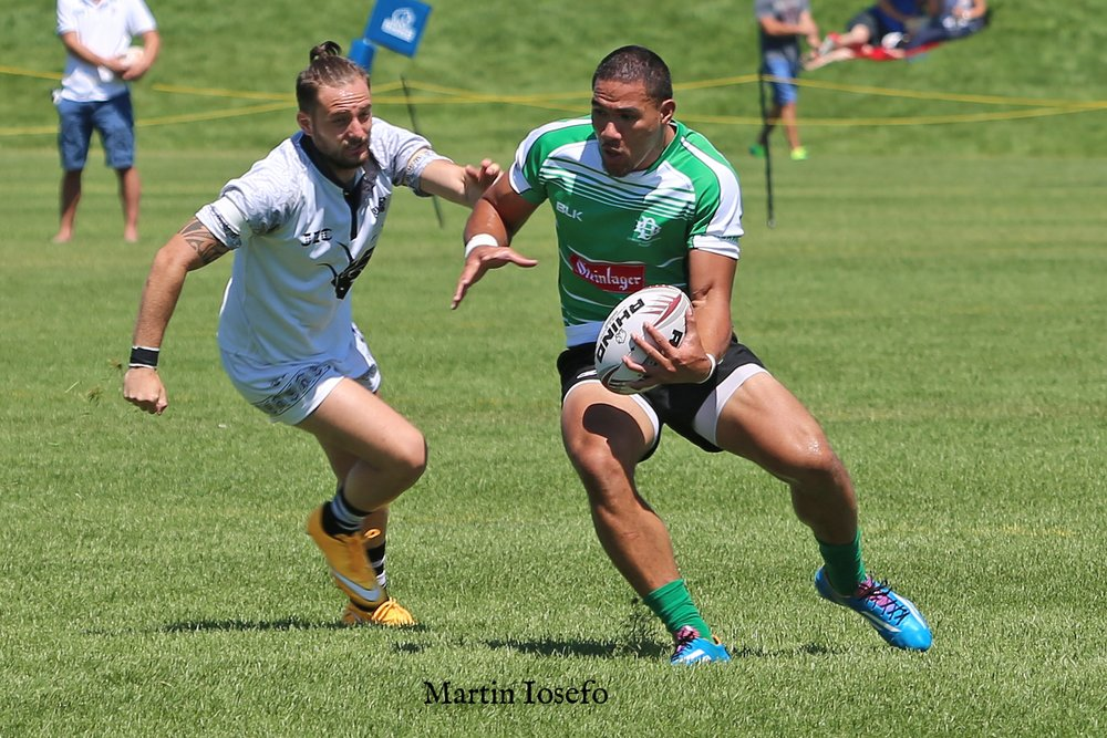 Martin Iosefo  - Denver Barbarians Sevens Rugby,  United States national rugby sevens team,   member of the dream team for the  2016 Canada Sevens