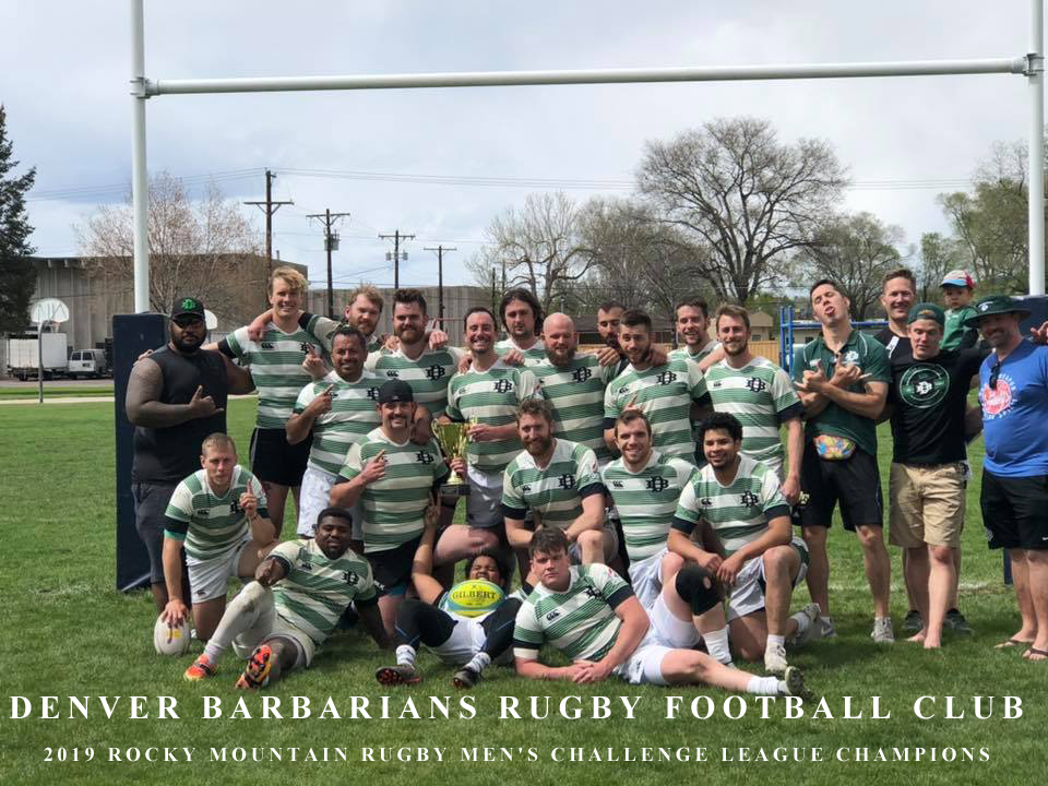 Denver Barbarians - 2019 Rocky Mountain Rugby Men's Challenge League Champions