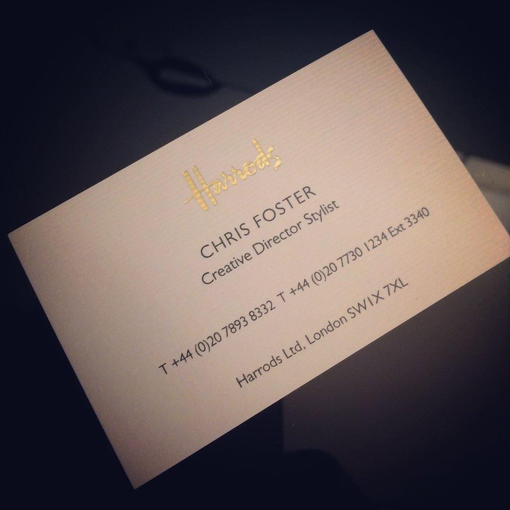 Chris Foster - Creative Director - Harrods