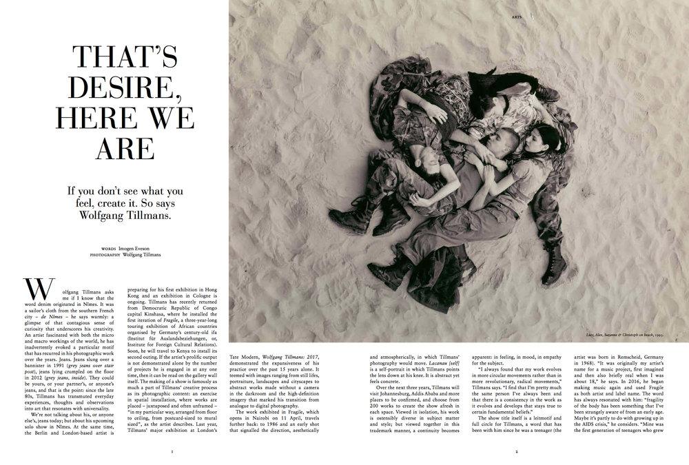 Wolfgang Tillmans arts feature – Russh issue 81