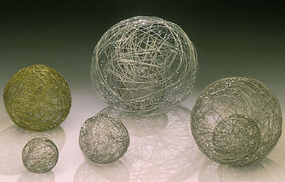 Decorative balls, made by EDM wire artist, Cindy Luna.