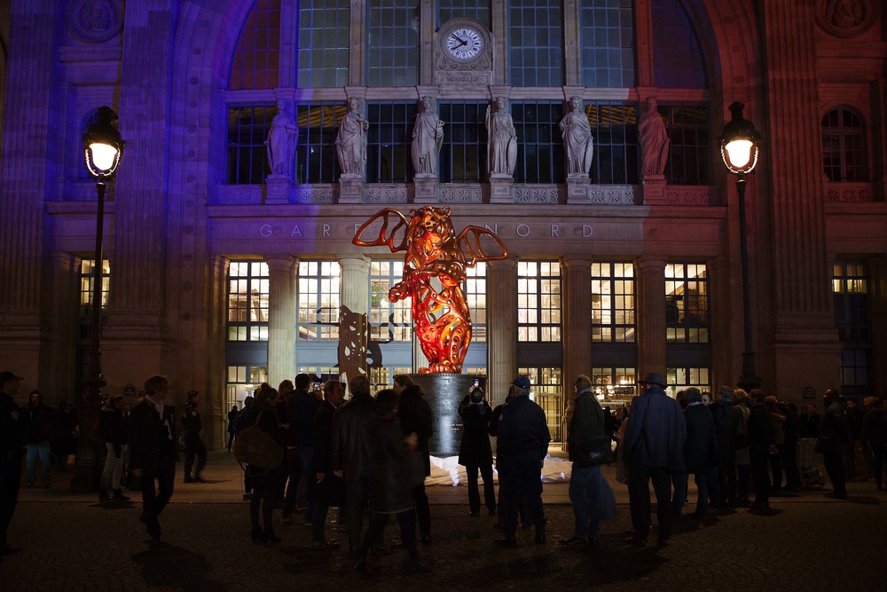Richard Texier Angel Bear Train Station Gare Du Nord