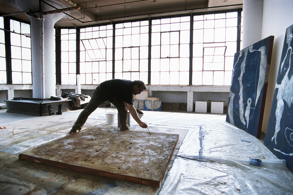 Richard Texier dans son atelier à New-york.