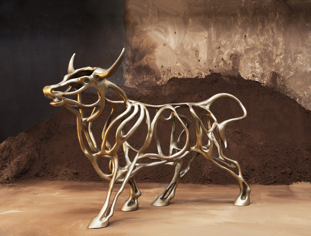 Richard Texier Artist Sculpture Bull 04 300x202x100cm - 2015_1