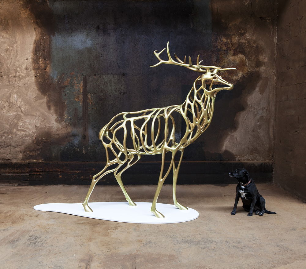 Richard Texier artiste sculpture  Deer 2015 - 200 x 221 x 100 cm_2