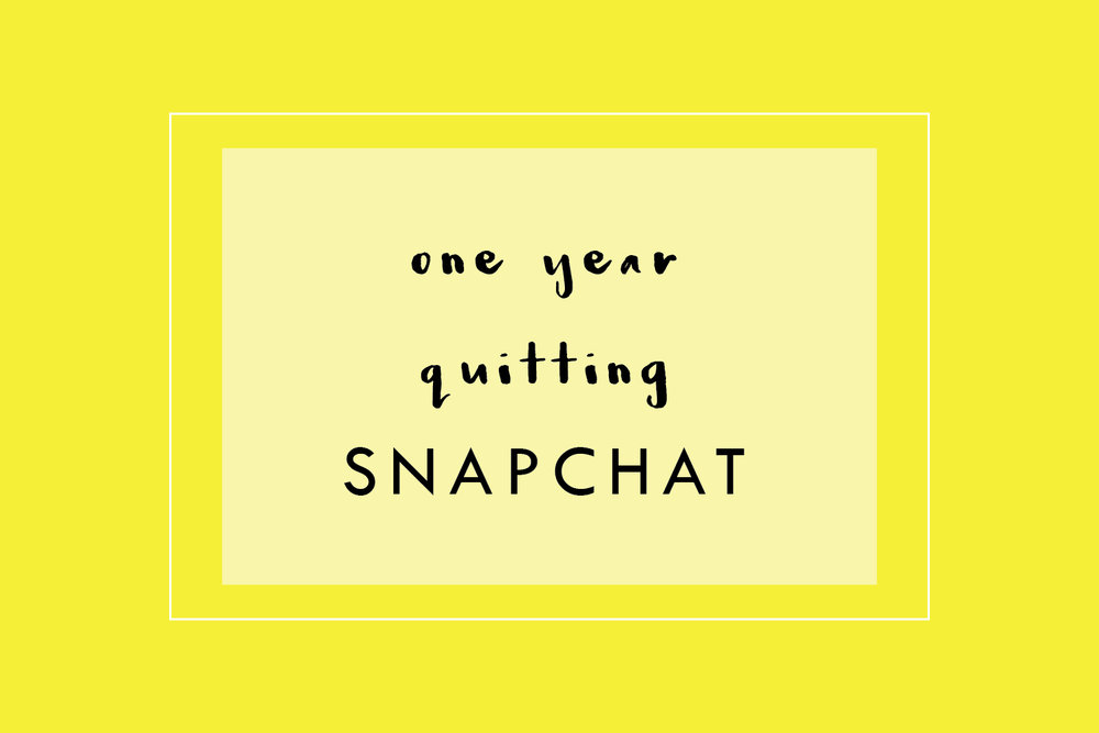 One Year Quitting Snapchat | A Beautiful Distraction