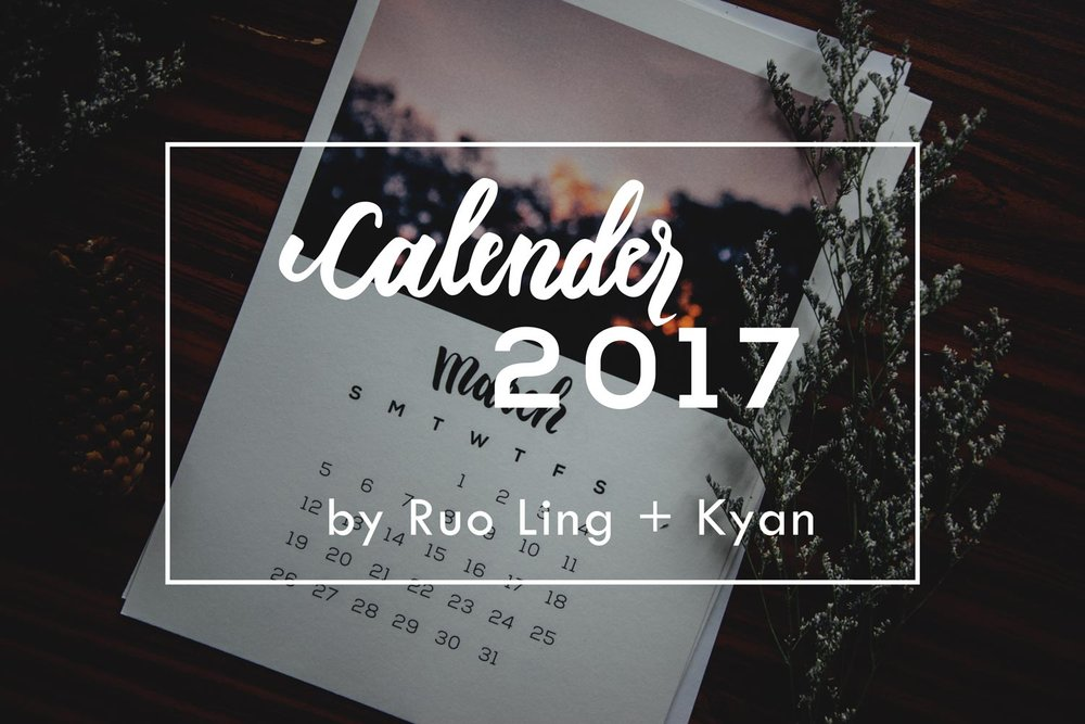 Calendar 2017 | A Beautiful Distraction