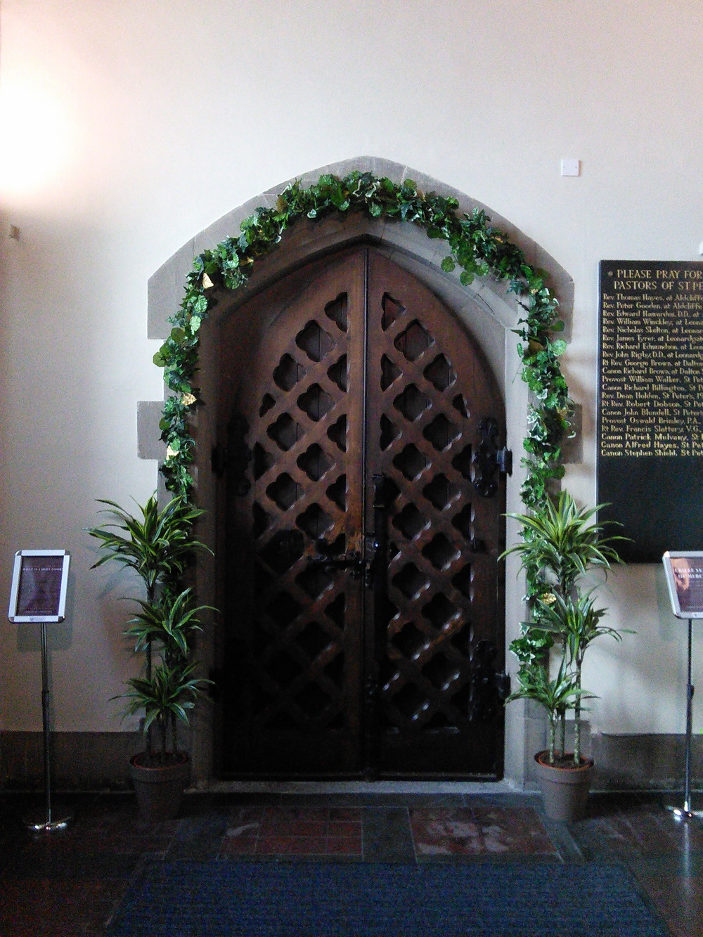 The Holy Door in the Cathedral. Crossing the threshold of the Doorway symbolises our own journey, our desire to enter into the Jubilee Grace of Mercy.