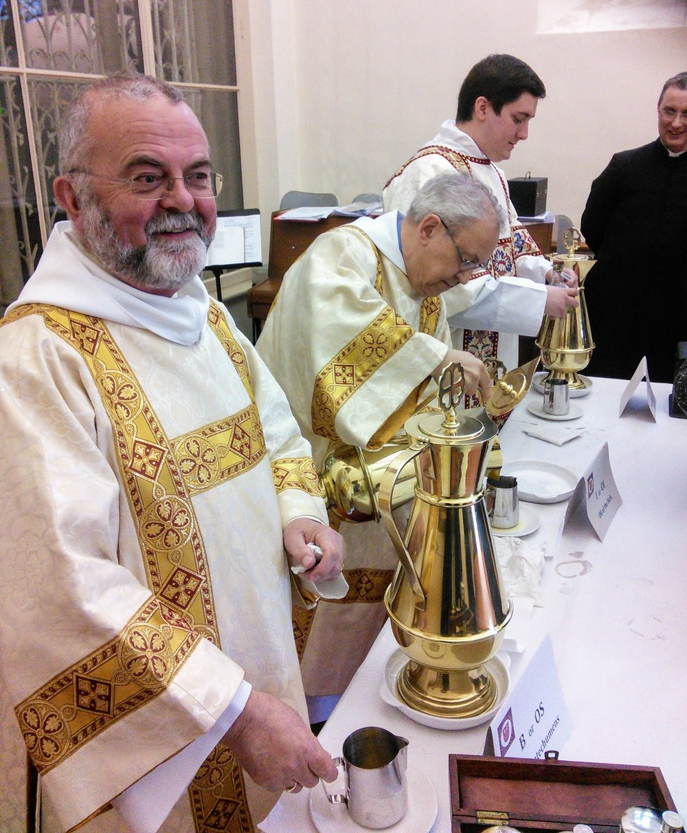After Mass, the oils which have been blessed, are distributed to all the priests of the Diocese, to be used through the year for the celebration of the sacraments, Christ's presence amongst us.