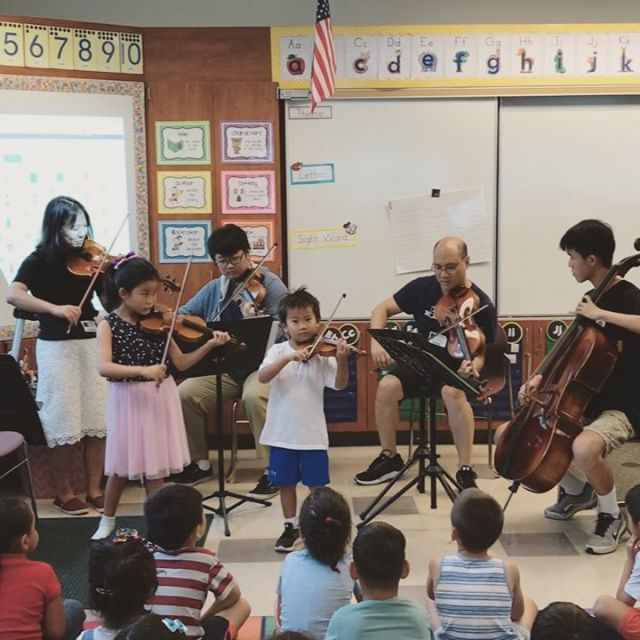 Thank you, Mr. and Mrs. Wie, for teaching us about the violin and the cello! It was so much fun learning how to play. Special shoutout to our Kindergartener, Arthur, for performing for his classmates! 🎻