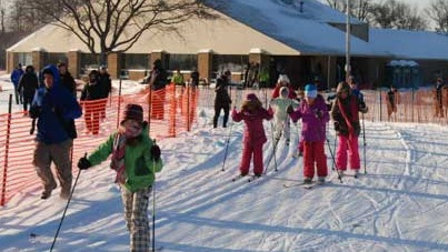 Huron Meadows Classic and Skate Skiing. There is a lit track for after dark and a snow machine for when there isn't enough natural snow. Ski rentals are very reasonable.